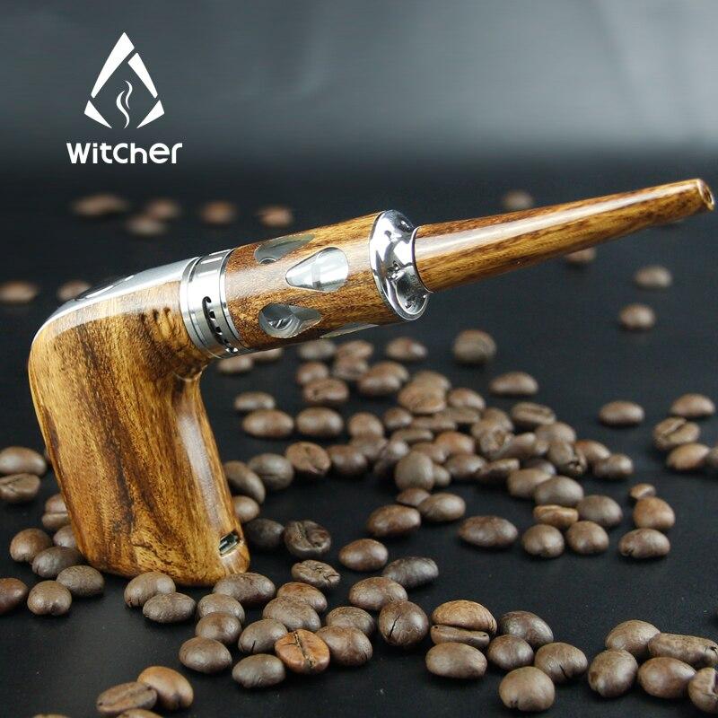 Cigarette électronique Witcher E Cigarette Vape stylo staline E tuyau Kit vaporisateur 60 W narguilé électronique bois tuyau boîte Mod Kit X2063