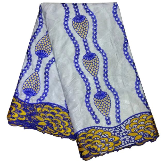 High quality african bazin riche getzner lace fabric for women dress free shipping LBL