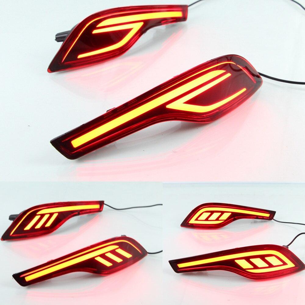 CSGJMY 1set LED Rear Bumper tail light fog lamp Brake Bumper Lights daytime running For Honda