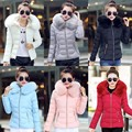 Women Basic Coats Down Coat Winter Jacket Down Jacket Parkas Thick Faux Fur Coat Collar Hooded Down Cotton Slim Warm Plus Size
