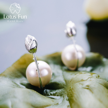 Lotus Fun Real 925 Sterling Silver Earrings Handmade Fine Je