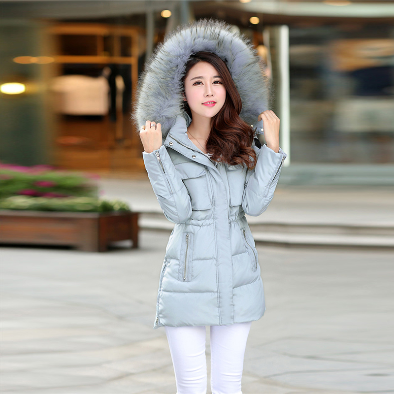 2017 New Womens Winter Jackets And Coats Thick Warm Women Parka Mujer Long Down Cotton Padded Woman Coat Fur Ladies Jacket