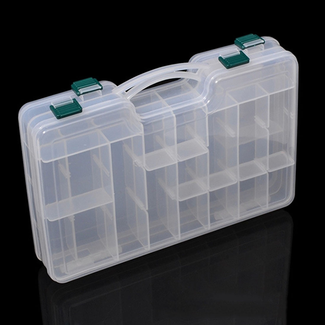 20 slots 2 layers plastic detachable fly fishing lure for Best fishing tackle box