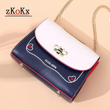 цена Fashion Quality bee Handbag Leather Women Messenger Bag Female Chain Strap Shoulder Bag Small Criss-Cross Ladies' Flap Bag в интернет-магазинах