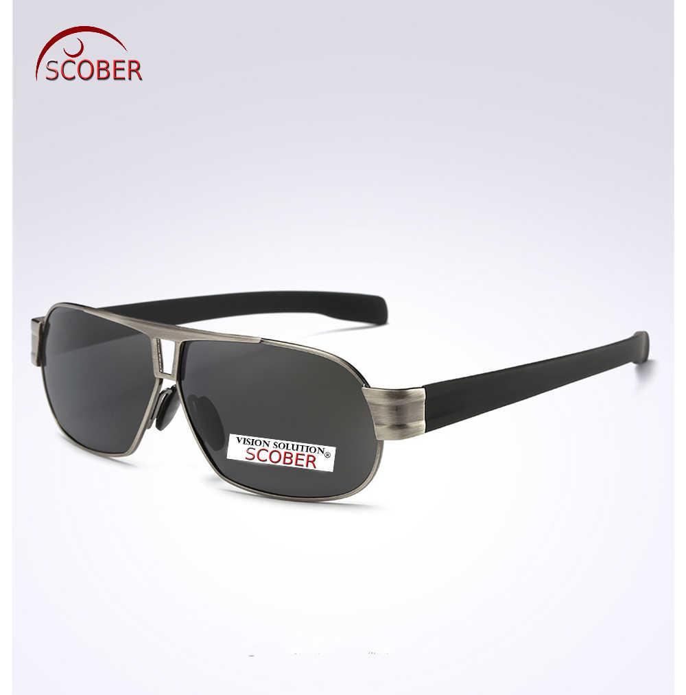 = SCOBER = الرجال HD الخلفي المغلفة الاستقطاب النظارات الشمسية مزدوجة جسر Tr90 الساق حساسة المفصلي Tac بولارويد Polarised Uv400 مع حالة