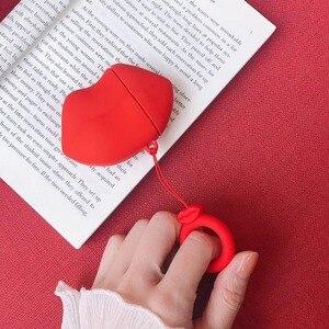 Image 2 - การ์ตูนน่ารักBulldogหูฟังชุดหูฟังอุปกรณ์เสริมTPU SoftสำหรับAirpodsไร้สาย1 2ชุดหูฟังบลูทูธกระเป๋า