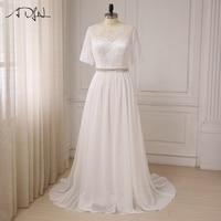 ADLN Women Plus Size Wedding Dresses Short Sleeve Lace Top Chiffon Beach Wedding Gowns Vestido De Novia New Arrival
