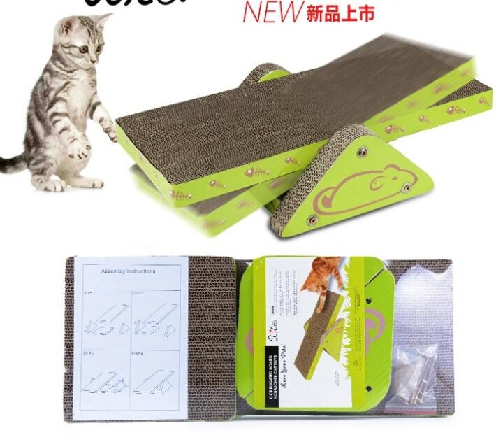 Tablero del rasguño del gato de juguete árbol escalada marco ...