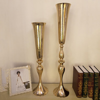 wedding flower decoration party event aisle T stage table centerpiece metal crafts holder road lead flower vase display