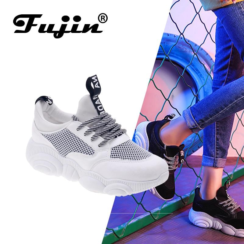 FUJIN brand women casual shoes women flats 2019 fashion spring autumn summer female shoes lace up