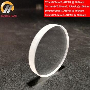 10 Pcs/Lot Carmanhaas 1064nm Fiber Laser Protective Lens Glass Protective Window Under 6KW Diameter 37mm 38.1mm 50mm 55mm 1
