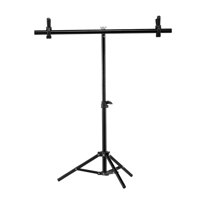 Photography PVC Backdrop Support Background Stand System Metal Backgrounds for Photo Studio Video with 2 Clamps Clip 68cm X 75cm(China)