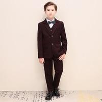 Boys graduation wedding dress children suit boys suit Wedding Suit Kids Graduation Suit with Breastpin for Boys H470