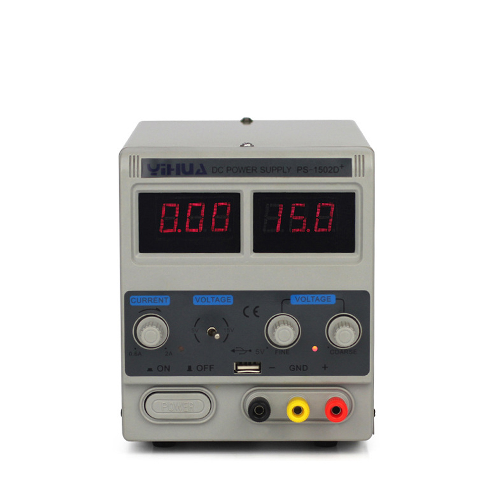 цена на YIHUA 1502D+ 15V 2A Dual Dc Regulated Power Supply Mobile Phone Repair Dedicated LED Display Test Adjust The Voltage