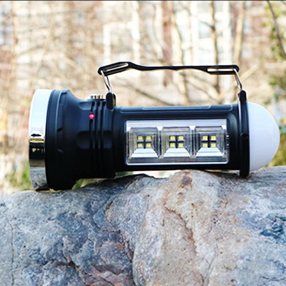 LAIDEYI LED Solar Flashlight Portable Outdoor LED Searchlight Camping Lantern Solar Rechargable Camping Tent Light With EU Plug led solar flashlight with fan lantern camping camping light outdoor portable tent telescopic emergency light