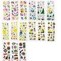 60 Pçs/lote 3D Inchado Adesivos Pokemon Cavalo Pequeno Minions Super Hero Elsa & Anna Princesa Brinquedo Etiqueta 3D