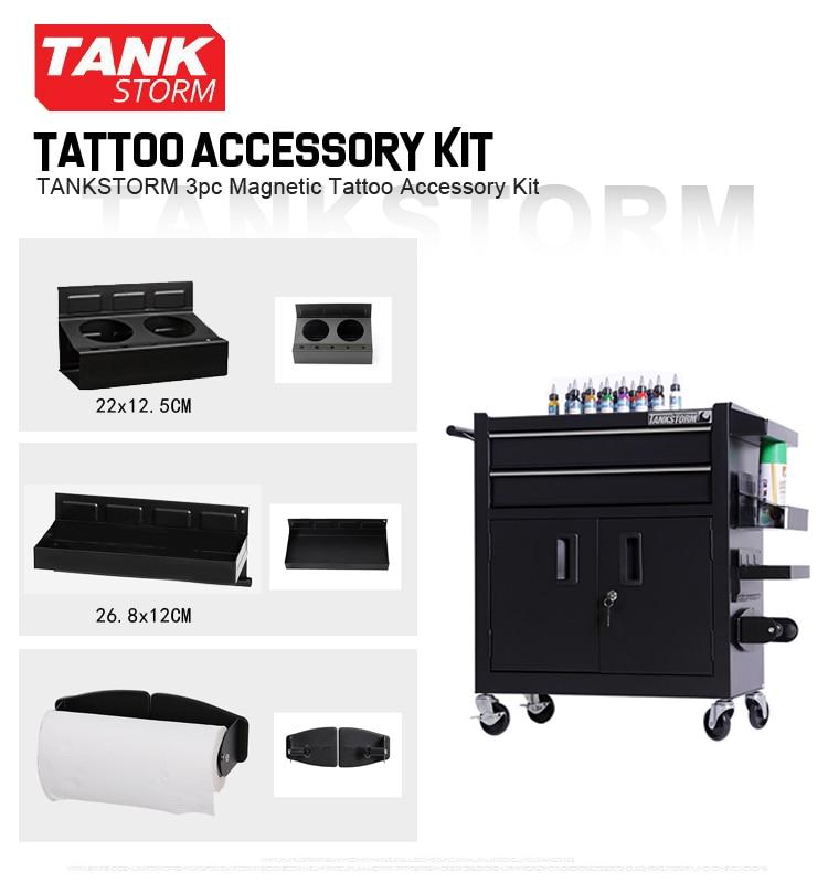 TANKSTORM 3pcs Magnetic Tattoo Accessory Kit