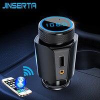 JINSERTA Universal รถ MP3 Player แฮนด์ฟรีไร้สาย Bluetooth เครื่องส่งสัญญาณ FM AUX TF SD Music Receiver Adapter