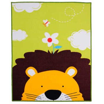 Lovely Lion Children Carpet Kids Rugs 39x51 Inches Cartoon Animal Carpet Baby Crawling Mat Baby Crawling Pad/ Game Mat