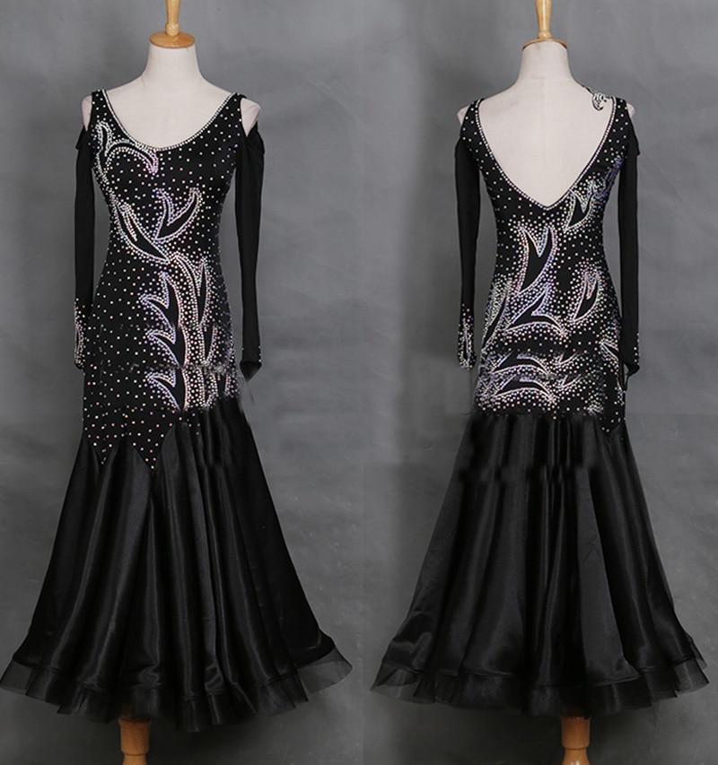 New Sexy Latin Dance Dress Women Fashion Original Black Tango Dresses Lady Rumba Flamenco Competition Dance Costumes B207