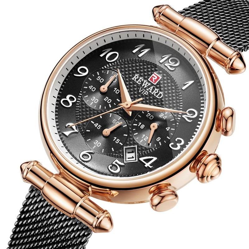 Women's High grade Luxury Watches Retro Women Fashion Quartz Watch Lady Steel Mesh Watchband Waterproof Watches Gift for Wife