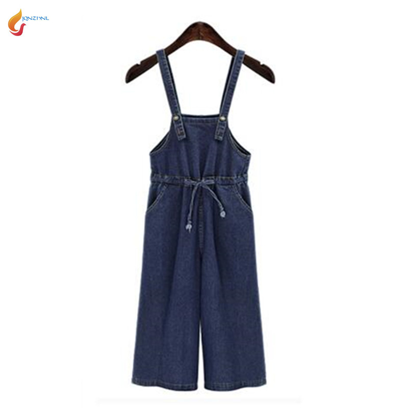 2020Summer New Fashion Women Wide-legged Jumpsuits Loose Big yards Leisure Pure color Lace-up Cowboy Condole Belt Jumpsuits G282