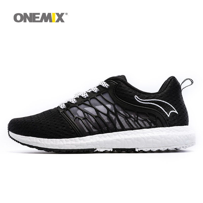 ONEMIX New Unisex Running Shoes Breathable Mesh Men Athletic Shoes Super Light Outdoor Women Sport shoes lovers walking shoes