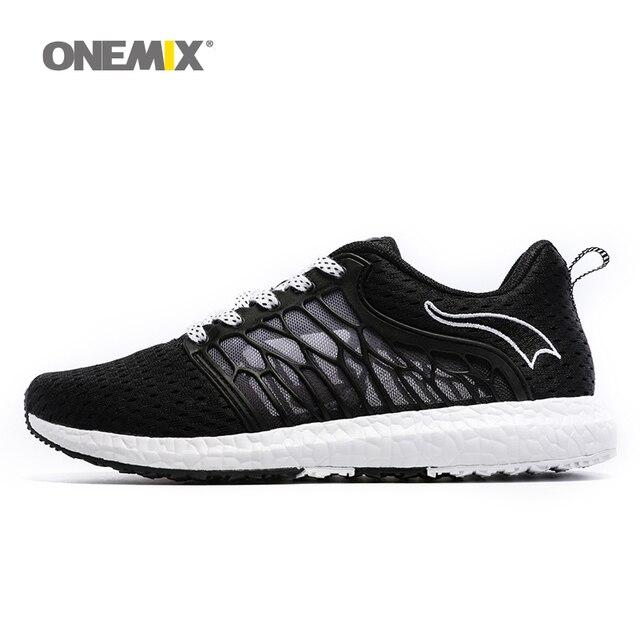 Onemix новые unisex кроссовки воздухопроницаемой сеткой мужчин athletic обувь супер свет на открытом воздухе женская спортивная обувь любителей обувь для ходьбы