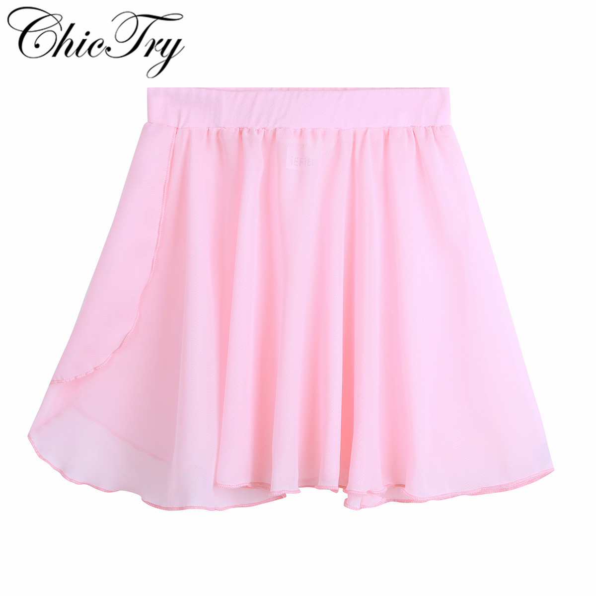 ChicTry Kids Girls Ballet Dance Basic Classic Chiffon Mini Wrap Skirt Costume For Stage Performance Dancing Wear Gymnastics Wear