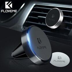 Floveme держатель для телефона в машину попсокет для телефона Магнитная автомобильный держатель телефона для iPhone Xiaomi магнит Air Vent Outlet автомоби...