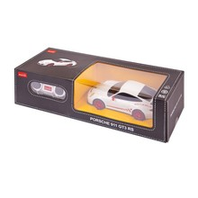 RASTAR Машина р/у 1:24 Порше GT3 RS, 18см (черный, белый)