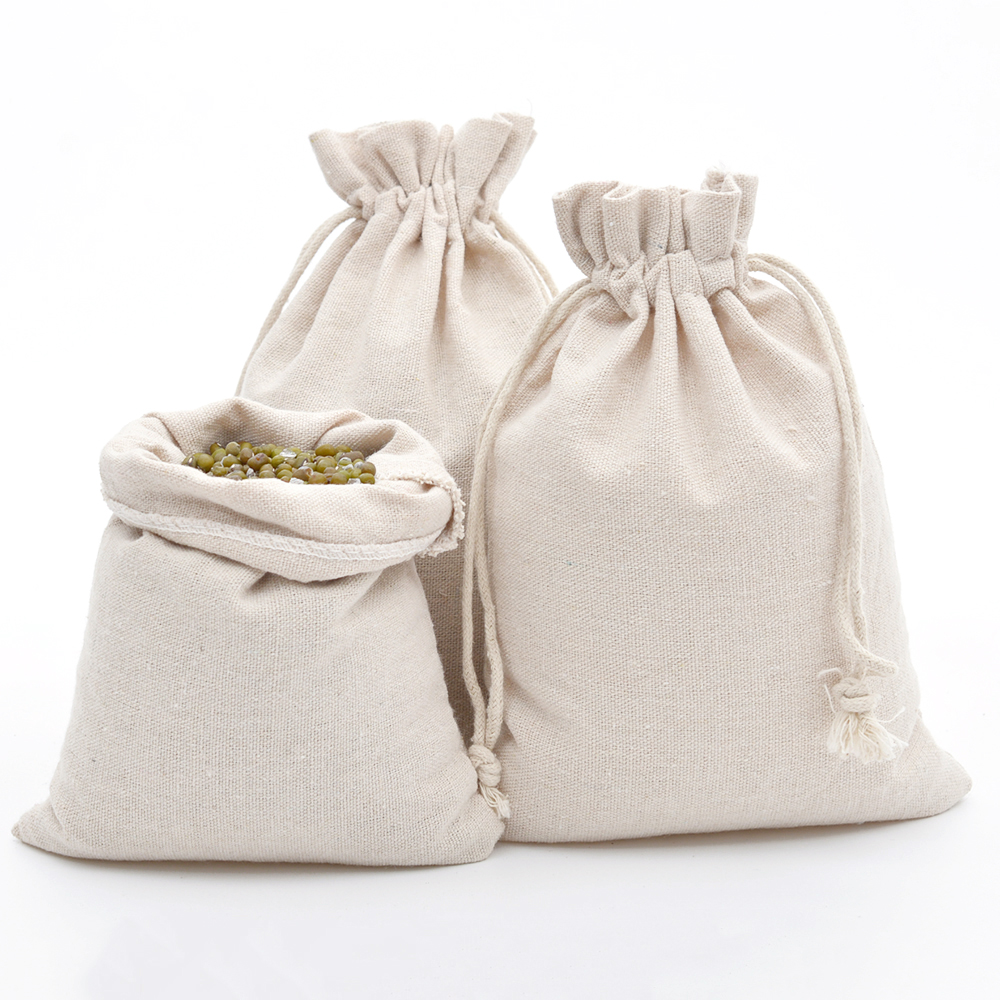 Us 9 88 10pcs Cotton Bags With Drawstring 5