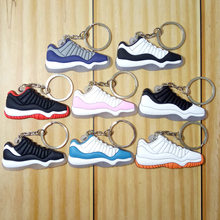 Mini Silicone Jordan 11 Homens Mulher Kids Presentes Chave Anel Keychain Bolsa Charme Acessórios Pingente de Chave Titular Chave Sapatos Sneaker chai(China)
