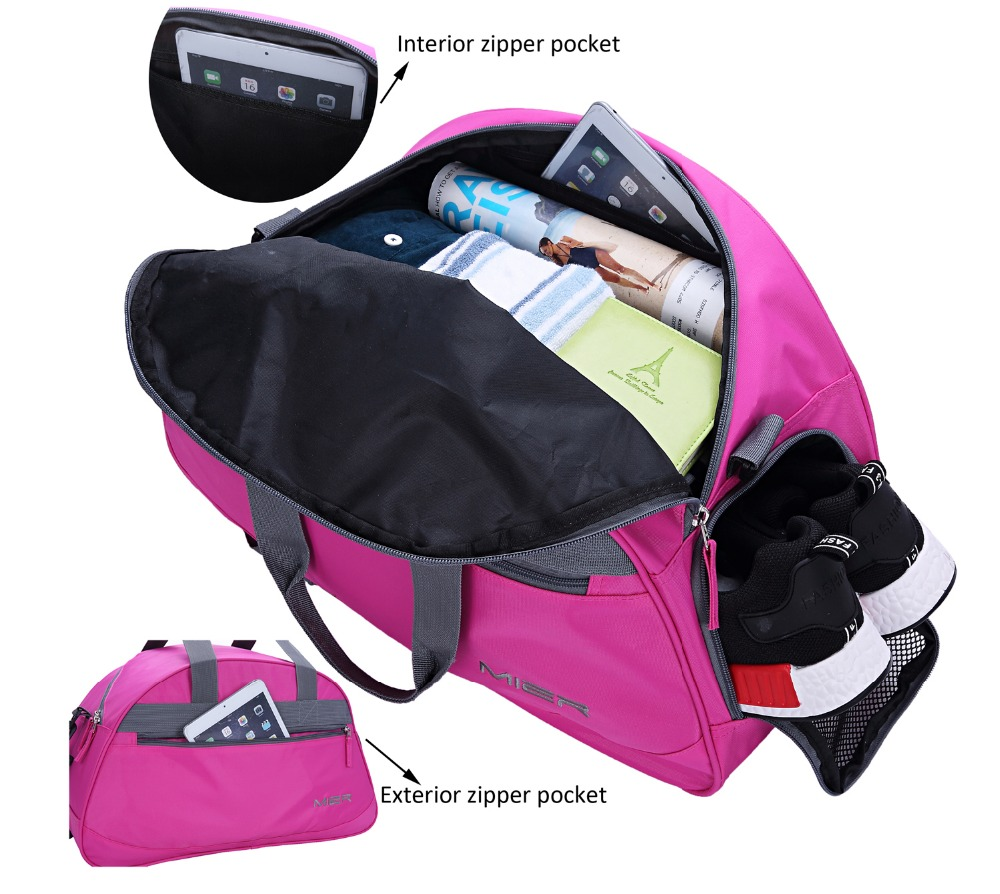 5475c1163311 MIER 20 inches Bag Travel Duffel Bag with Shoes Compartment for Women and  Men
