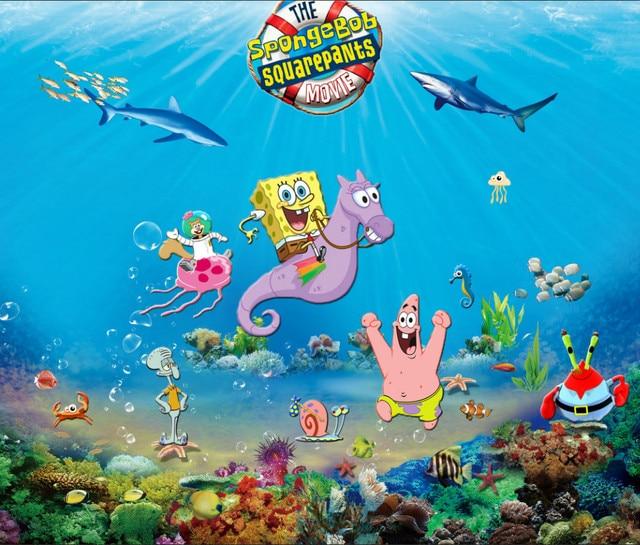 8x8ft Under Blue Sea Reef Sponge Bob Baby Square Pants