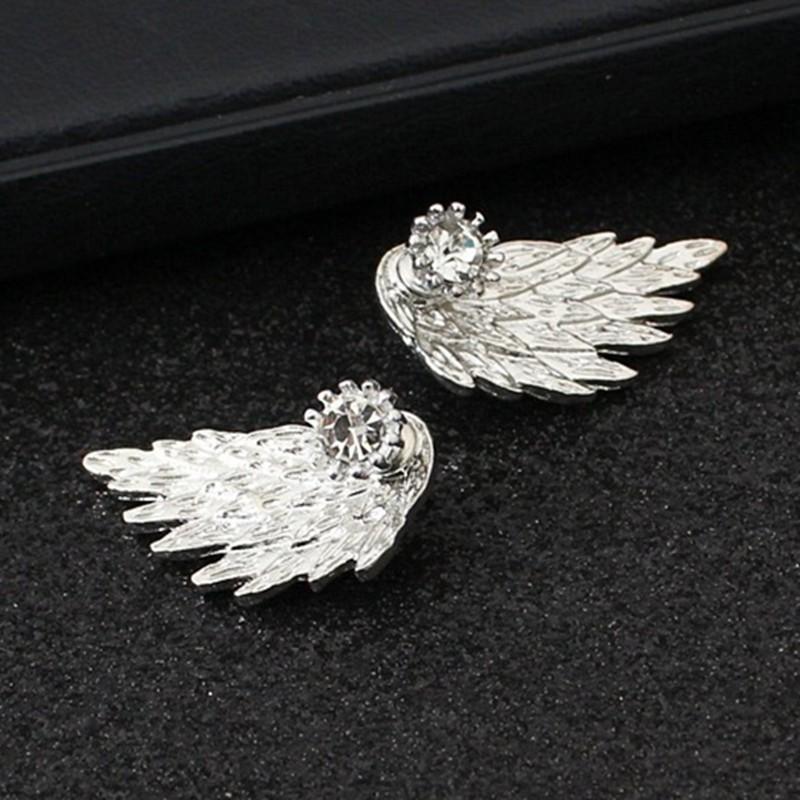 HTB1lW.BOFXXXXcYXFXXq6xXFXXXG Women's Angel Wings Rhinestone Stud Earrings - 2 Colors