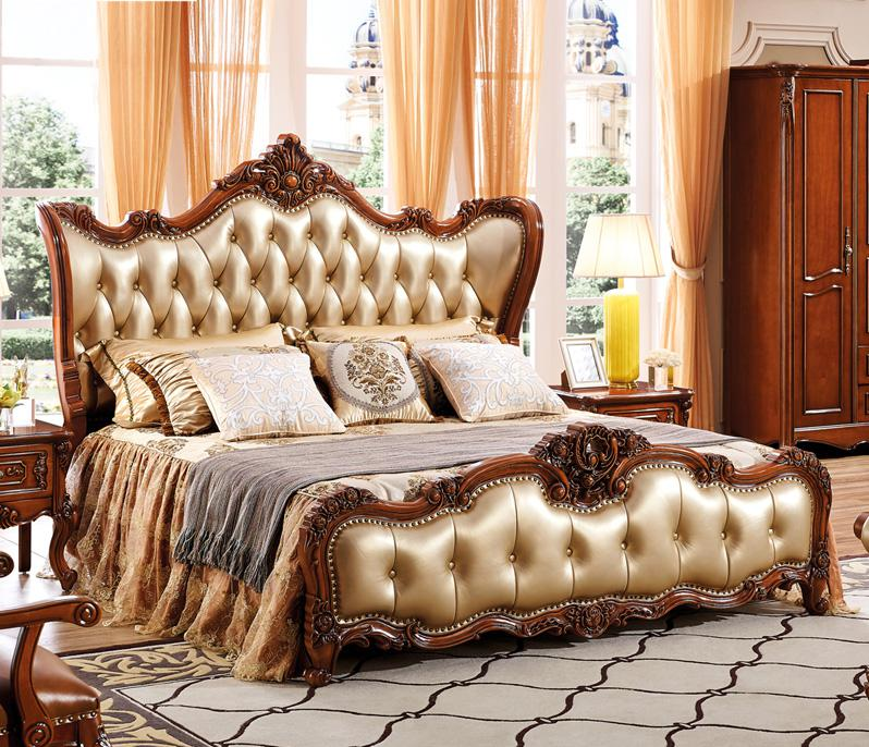 8 pcs set of bedroom furniture luxury antique style home furniture sets