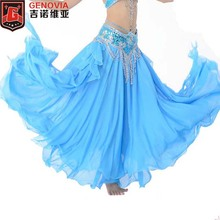 New Arrivals 2016 Hot Sale Belly Dance Clothing 3 Layers Full Circle Long High Waist Maxi Women Skirts for Colors 11