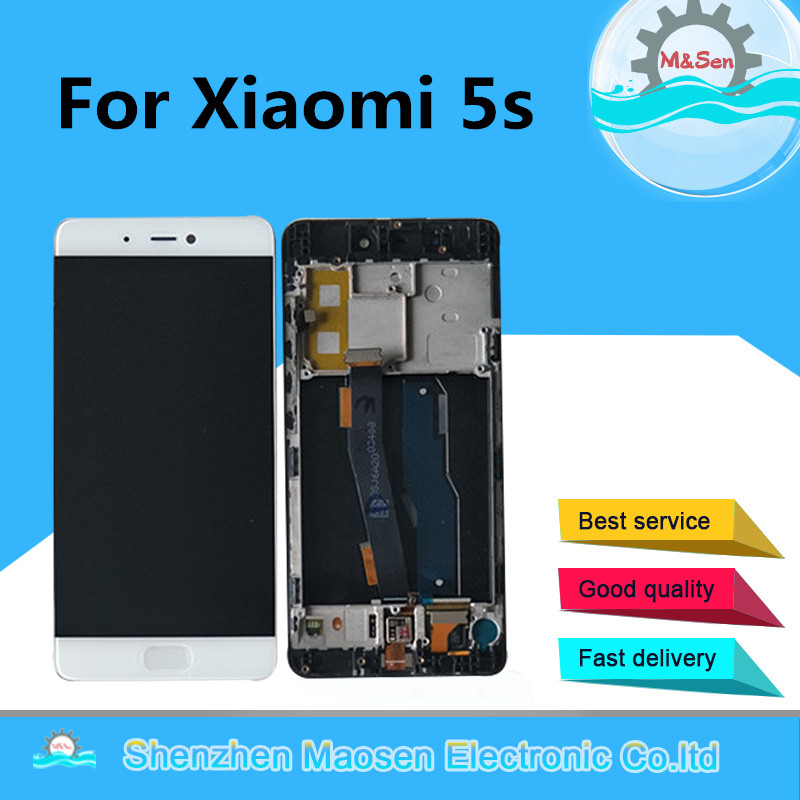 M&Sen For Xiaomi 5s Mi5s M5s LCD Screen Display+Touch Panel Digitizer Frame For Xiaomi Mi 5S Mi5S M5S Assembly Lcd Display