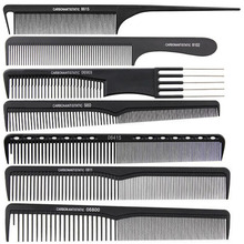 7pcs Hairdressing Carbon Antistatic Cutting Comb Barber Stylist Set Hair Comb Salon Dressing Brushes Tool for Beauty Style