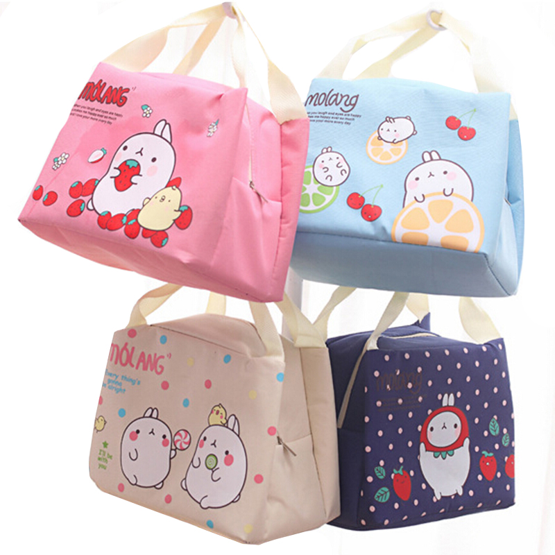 Practical Portable Cartoon rabbit Waterproof Cooler Ice Bag Lunch Bag Leisure Picnic Packet Bento Box Food Thermal Bag