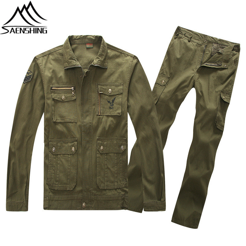 New Outdoor Sports Suit Men Women All Season Fishing Camping Hiking Climbing Suit Cotton Blends Wear-Resistant Trainning Suits ...