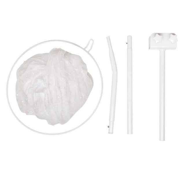 Детская кроватка москитная сетка для младенцев портативная кроватка для новорожденного складной балдахин для мальчиков и девочек Летняя Сетка Portector детская кровать Wigwam - Цвет: White