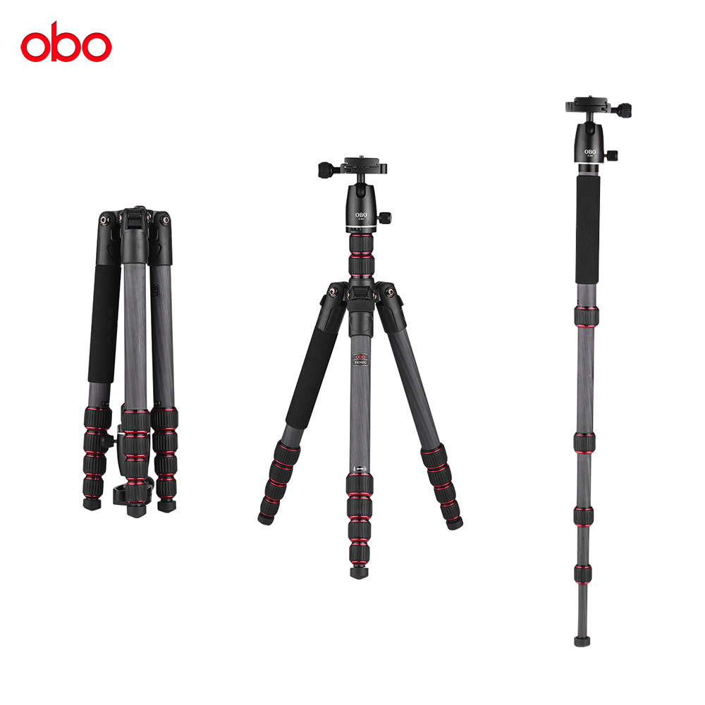 OBO TS360C Foldable Portable Carbon Fiber Camera Tripod Travel Tripod Monopod for Canon Nikon Sony DSLR