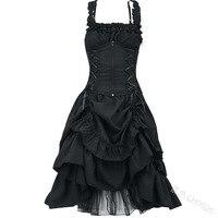 Plus Size 5XL Women Lolita Dress Sweet Victorian Gothic Vestido Retro Palace Court Princess Dress Sleeveless Long Dress Cosplay