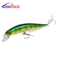 цены CRANK BAITS New Arrival Fishing Lure good quality lures 1pcs 10cm 8.1g Minnow Hard Bait 3D Eyes Artificial Fishing Tackle YB42