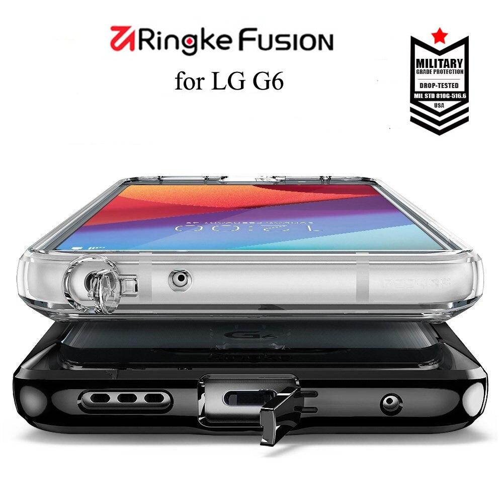 imágenes para Ringke Fusión para LG G6 Caso Cristalino Claro de la PC de la Contraportada de TPU Híbrido Golpe Contra La Suciedad resistente