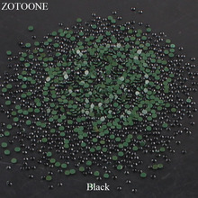 Crystal Hotfix Flatback Glass Black Rhinestones DIY Nail Art Mobile Phone Stones For Clothing Iron On Strass Crystals Applique E