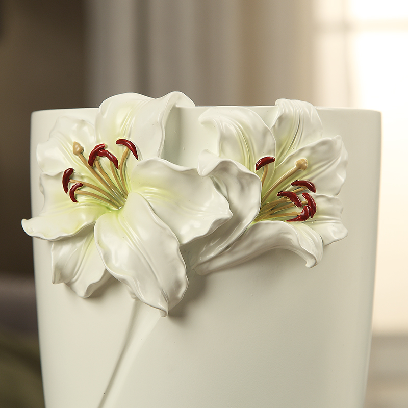 3pcsset Reusable Resin Lilies Vase Home Decoration European