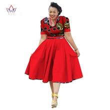 Plus Size Clothing 2017 summer Dress African Print  Dress Dashiki For Women Bazin Riche Vestidos Femme Dress Plus Size BRW WY733